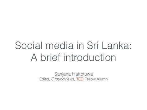 social media in sri lanka a brief introduction