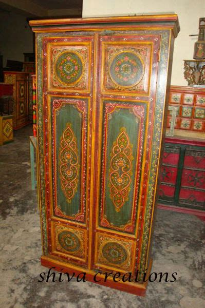 Indian Wardrobe by Painted Wardrobe Indian Painted Furniture Buy