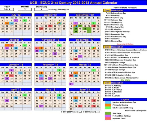annual calendar of events template coles thecolossus co