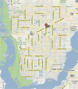 cape coral map florida cape coral your florida home