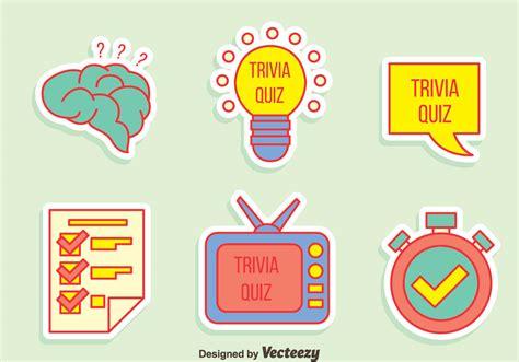 Drawing Quiz by Trivia Quiz Element Vector Free Vector