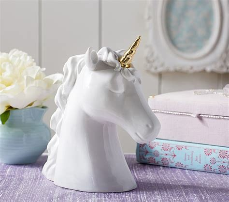 stunning large painted ceramic unicorn home decor by ceramic unicorn piggy bank pottery barn kids