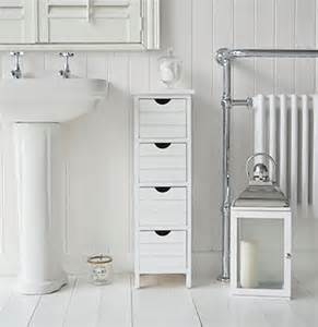 Narrow Storage Cabinet For Bathroom Dorset 25cm Narrow White Bathroom Storage Furnitue With 4 Drawers
