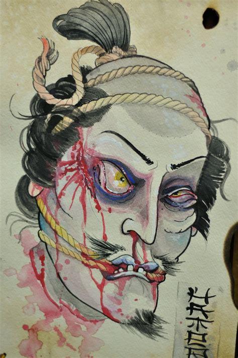 samurai head by chipp paintings pinterest samurai