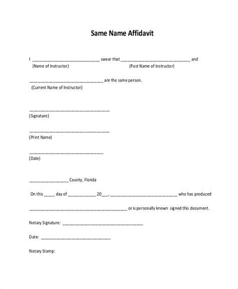 11 sle free affidavit forms sle exle formt