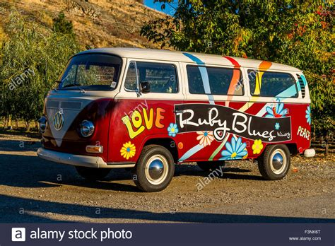 volkswagen van hippie blue volkswagen hippie bus van ruby blues winery naramata
