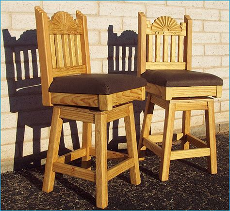 Southwest Swivel Bar Stools by Southwestern New Mexican Barstools Bar Furniture