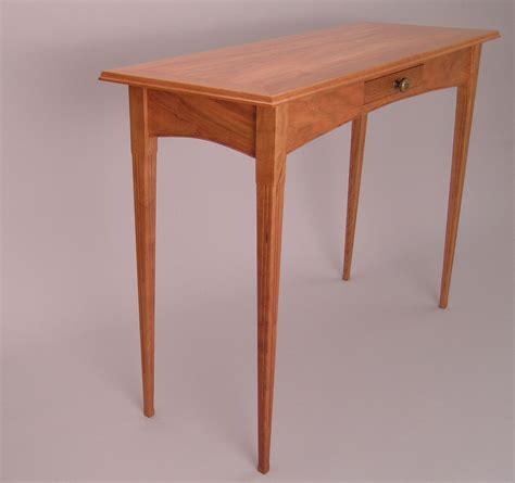 cherry wood hallway custom cherry hall sofa table by dunbar woodworking