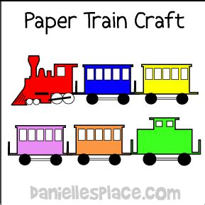 printable paper train template transportation crafts and educational activities for children
