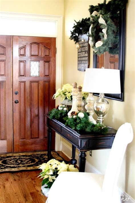how to decorate entryway christmas entryway decorating ideas style estate