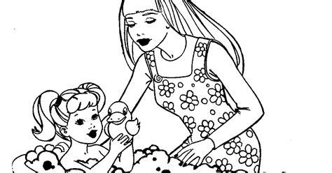 barbie makeup coloring pages barbie coloring pages barbie and kelly coloring page