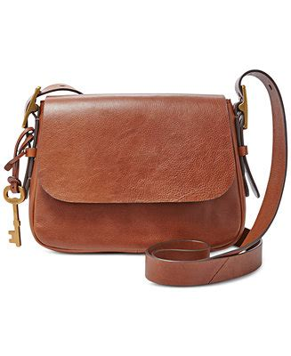 New Arrival Fossil Cross 1715 fossil leather small saddle crossbody handbags accessories macy s