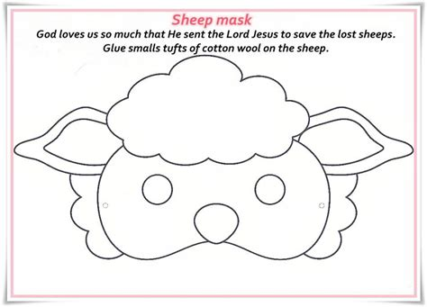 new year sheep mask template 1000 ideas about sheep mask on craft