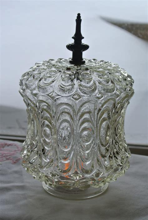 cut glass l shades 2 antique clear glass