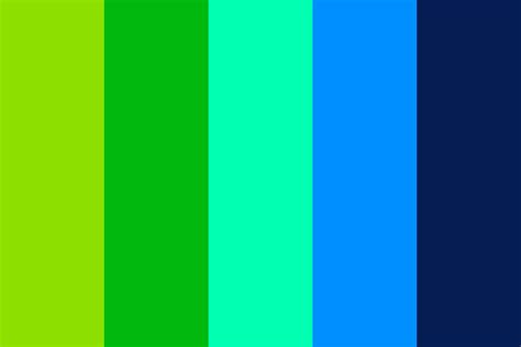 blue green colors green blue color palette