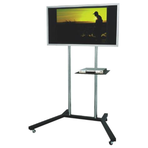 mobile tv stand tygerclaw mobile tv stand with 22 quot 60 quot fixed tv mount black silver tv stands best buy canada