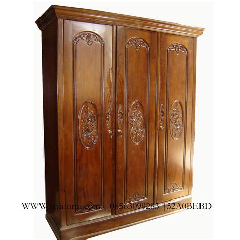 Lemari Pakaian Tanpa Pintu lemari pakaian jati 3 pintu ukir jayafurni mebel jepara jayafurni mebel jepara
