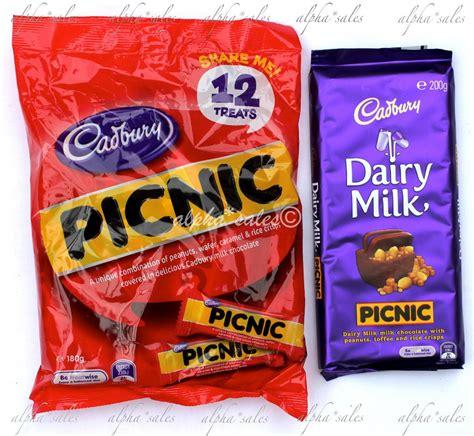 Cadbury Picnic 180g cadbury picnic sharepack snack size chocolate block