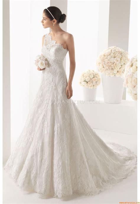 Fã R Hochzeitskleid by Wundersch 246 Ne Einschulter A Linie Brautkleider Aus Spitze
