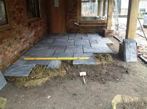 laying patio slabs indian sandstone paving alpha landscapes