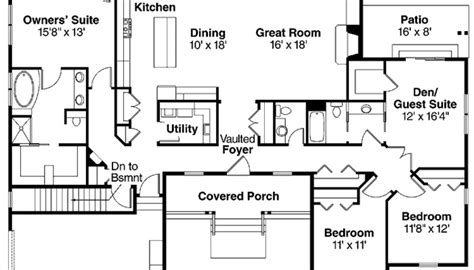 4 bedroom floor plans with basement beautiful looking 2 story house plans with basement tudor