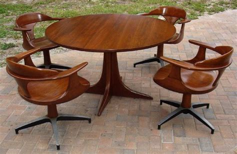 heywood wakefield dining table and chairs cliff house