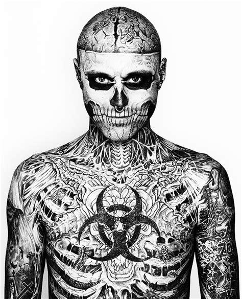 skeleton man tattoo full body a day with zombie boy video shockblast