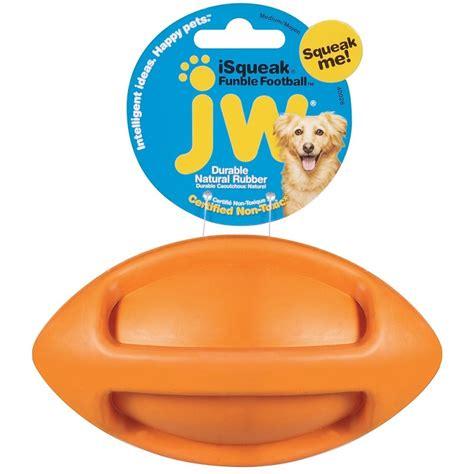 jw pet isqueak funble football dog toy medium