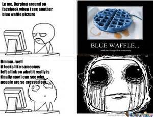 Blue Meme - blue waffle by memefangirl meme center
