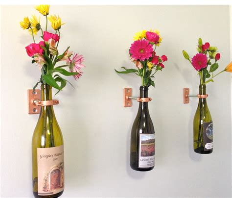 Wine Vase by Wine Bottle Hanging Vase Kits Use Your Own Bottle