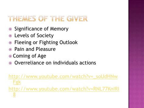 themes in book the giver the giver final copy