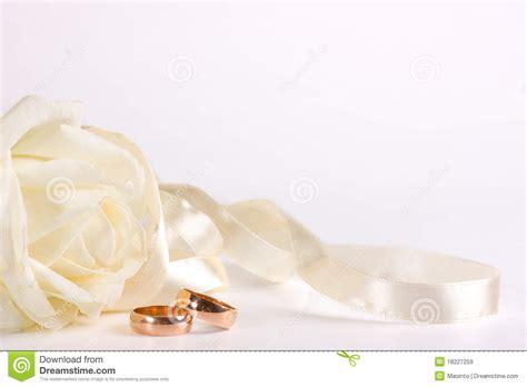 white wedding ring and ribbon royalty free stock