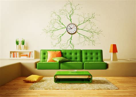 Sunflower Kitchen Decorating Ideas creative living room sofa and wall clock 3d house free