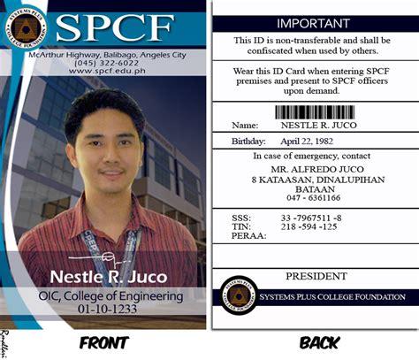 company id card template philippines spcf id sle by rennelmallari on deviantart