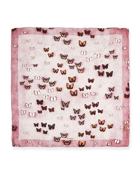 Print Scarf Silk Print Square Turky Tamboto givenchy silk satin butterflies scarf