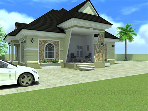 house and home design 3 bedroom bungalow plan in nigeria stagger beautiful house