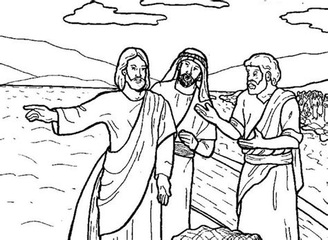 coloring pages jesus fish disciples coloring pictures of the disciples jesus tells to fish