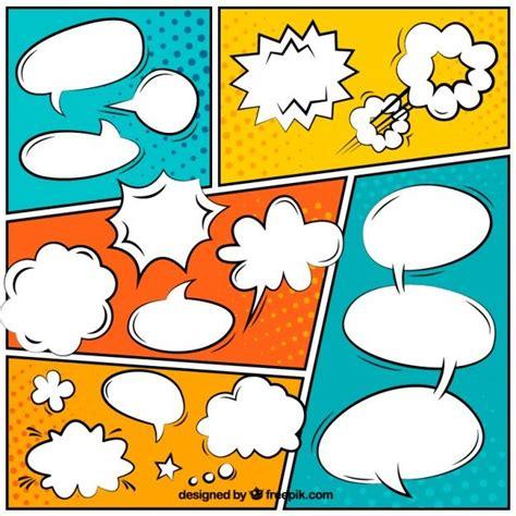 imagenes comicas gratis globos de di 225 logo coloridos de c 243 mic vector gratis p