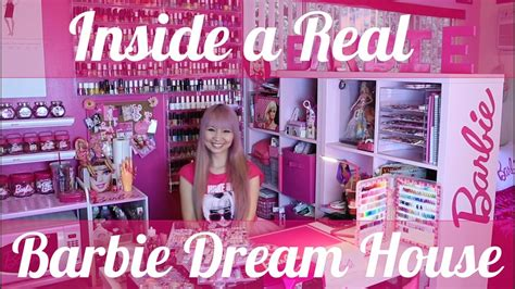 real barbie house inside a real barbie dream house hellogiggles youtube