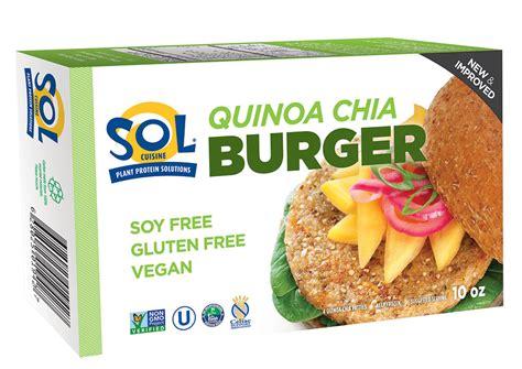 sol cuisine quinoa chia burger sol cuisine