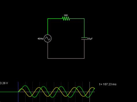a c response of capacitor circuit simulator