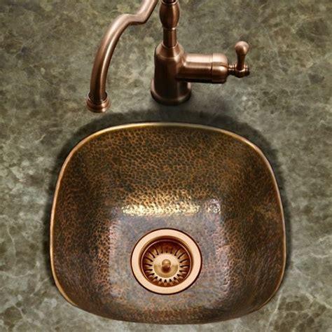 copper undermount bar sink houzer lager hammered copper undermount bar prep sink