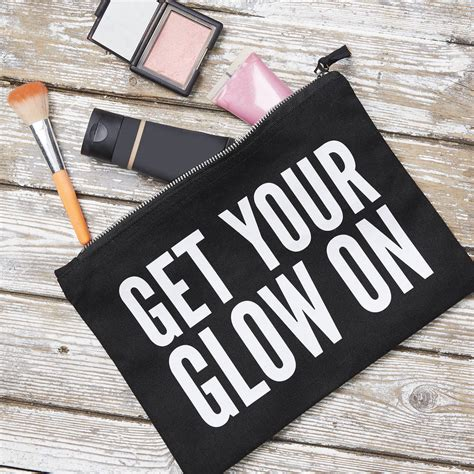 Get Your Glow On by Get Your Glow On Pouch By Hey Holla Notonthehighstreet
