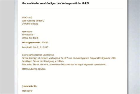 Huk Coburg Autoversicherung K Ndigen by Kfz Versicherung K 252 Ndigen Mit Mustervorlage So Geht S
