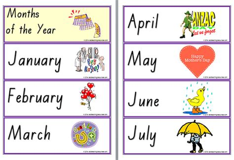 teach with teach 1 term 6 months printed access card new engaging titles from 4ltr press number names worksheets 187 months of the year to print