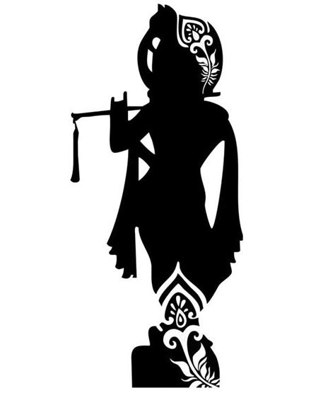 Snapdeal Home Decor by Studio Briana Black Standing Krishna With Flute Silhouette