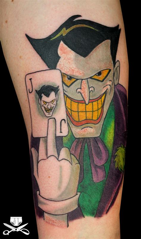 tattoo batman old school cartoon joker tattoo hautedraws