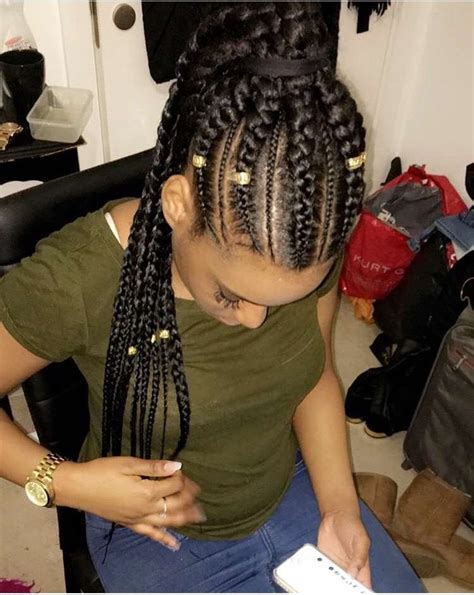 large cornrow ponytail i dont rock these cause im white but they re so pretty