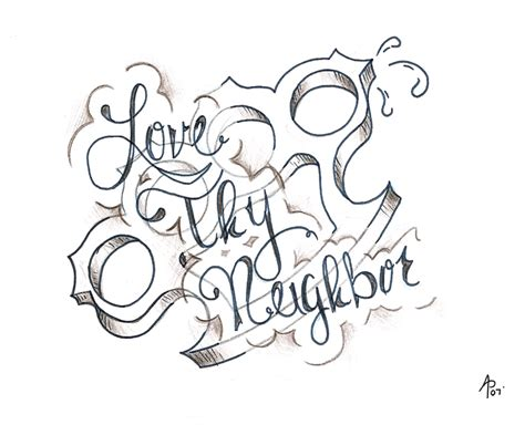 love thy neighbor tattoo thy by hot4creature on deviantart