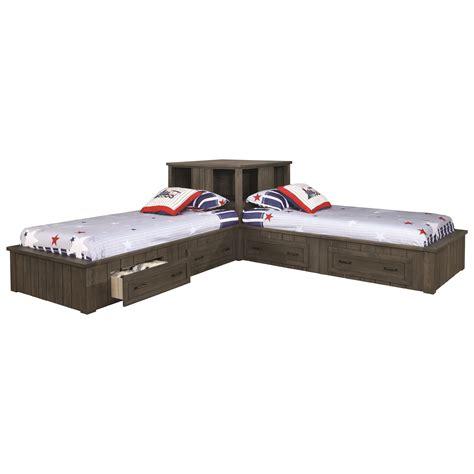 napoleon twin platform bed  storage drawers quality